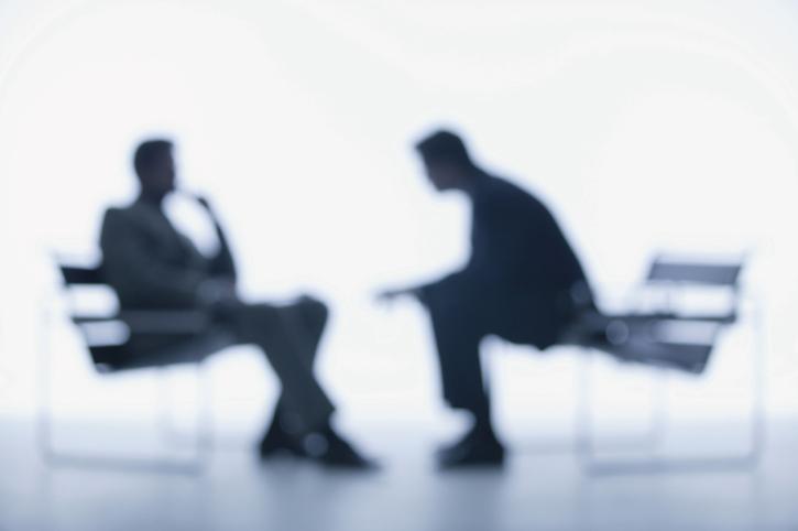 Interview between businessmen